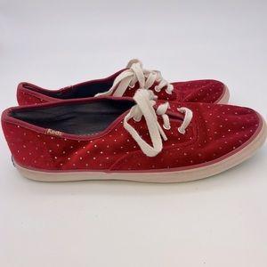 Keds Taylor Swift Velvet Glitter Polka Dot Sneaker